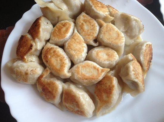 Wok Show: Potsticker (fried) lamb dumplings
