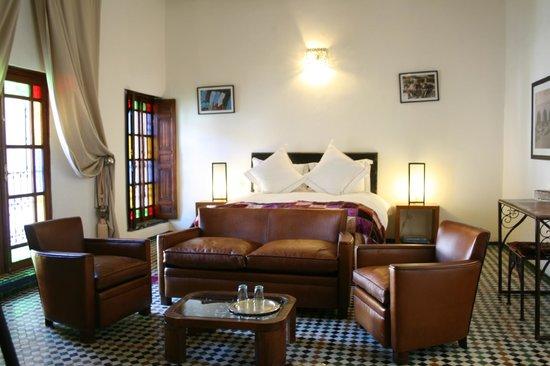 Riad Laaroussa Hotel and Spa : Cream Suite