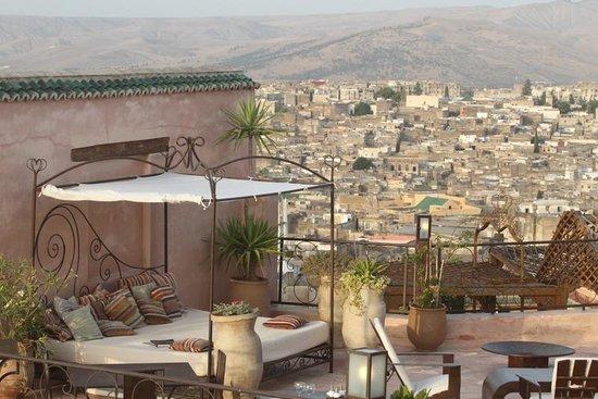 Riad Laaroussa Hotel and Spa: Terrace