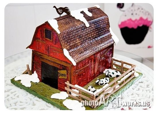 Something Sweet: Red Barn Cake
