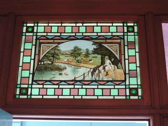 Ounuwhao Harding House: Lovely stained glass in the B&B