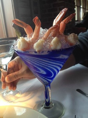 Landry's Seafood House : Shrimp Cocktail (ate the shrimp but had to leave the glass)