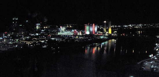 Horseshoe Bossier City: View from room at night