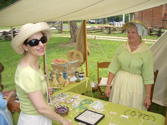 Historic Brattonsville: Ladies in green