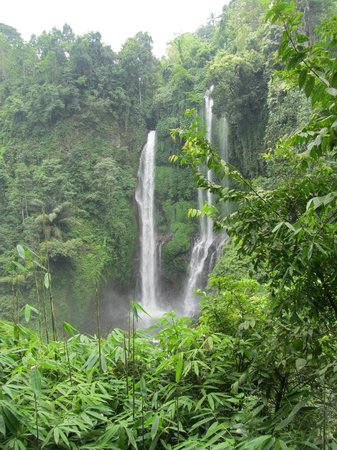 Sekumpul Waterfalls: View from afar