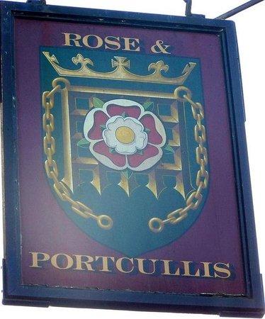 Rose and Portcullis: The Rose & Portcullis Pub Sign