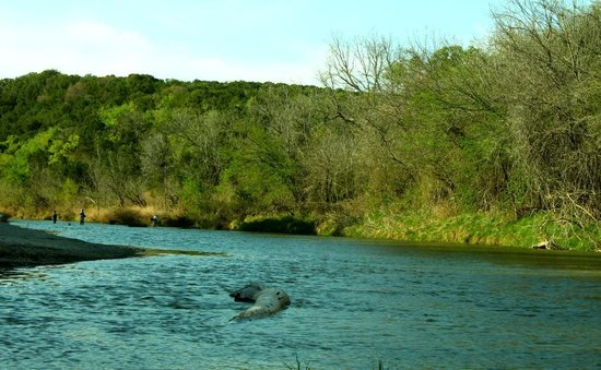 Dinosaur Valley State Park: Paloxi river before sunset