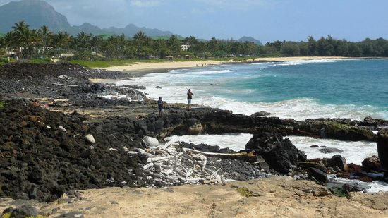 The Point at Poipu: shipwreck beach - beautiful but hazzardous for swimming