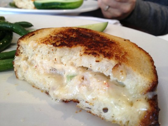 Hurricane Restaurant: Hurricane's crab and havarti on grilled sourdough
