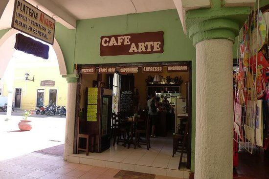 Cafe Arte: view from inside the plaza mall