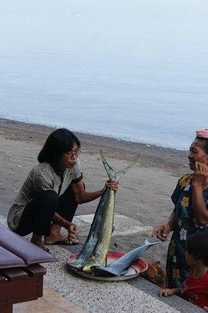 Villa Agung Beach Inn: Fish for lunch