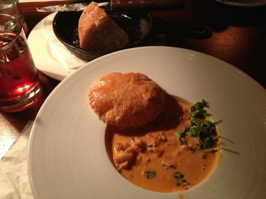 Brannan's Grill : Shrimp in a cream sauce, with Puff Pastry Crust. Slurp!