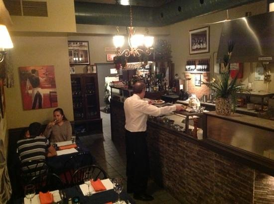 The Original Greek: Main room. You can see your food being prepared.