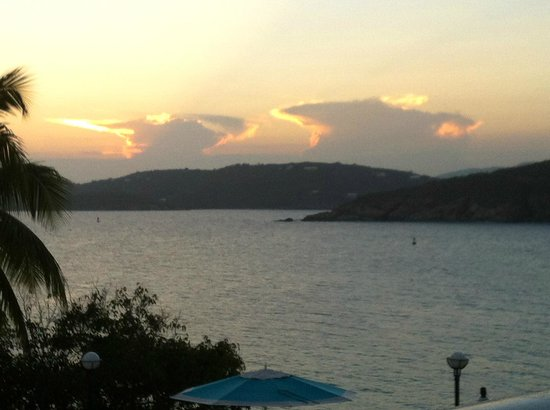 Marriott's Frenchman's Cove: We ate dinner outside watching this sunset