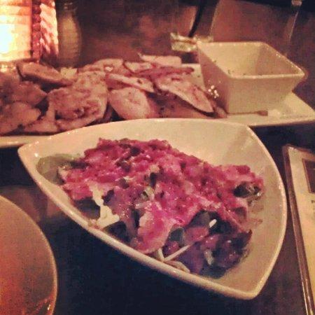 La Tasca: Eggplant chips and beef tenderloin salad were amazing