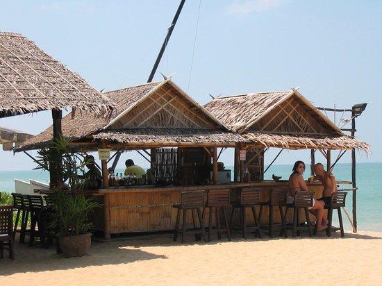Bar Hut on the beach.