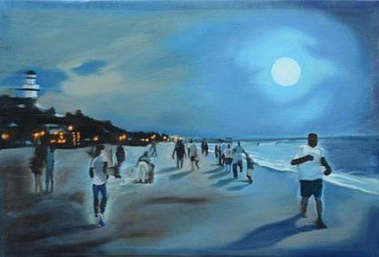 Riviera Art Gallery: Daniel Lewis, Playa del carmen, oil on canvas
