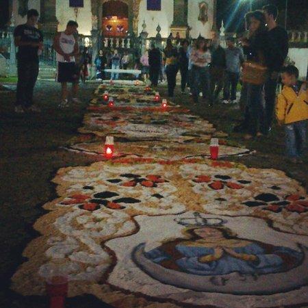 Igreja de São Francisco de Assis: Tapetes durante a semana santa