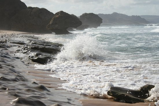 Bathsheba Beach: The surf