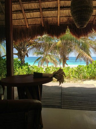 Cabanas Tulum: View from the bed in Superior Deluxe room