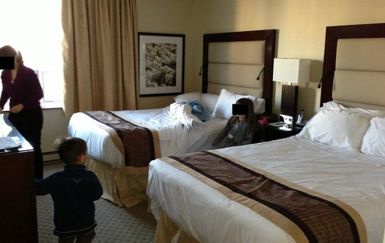 Chambre à coucher avec 2 lits doubles et TV - Picture of Albert at ...