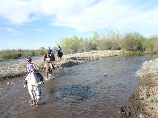 Fort McDowell Adventures: Crossing river