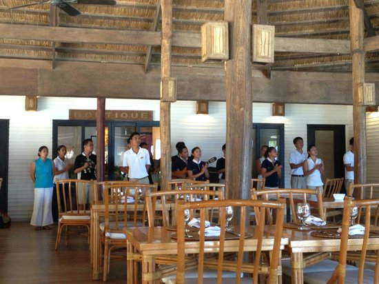 El Nido Resorts Miniloc Island: They love to sing here, American Idol should make a trip to this place