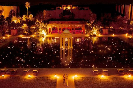 Sahara Palace Marrakech: Swimming Pool By Night
