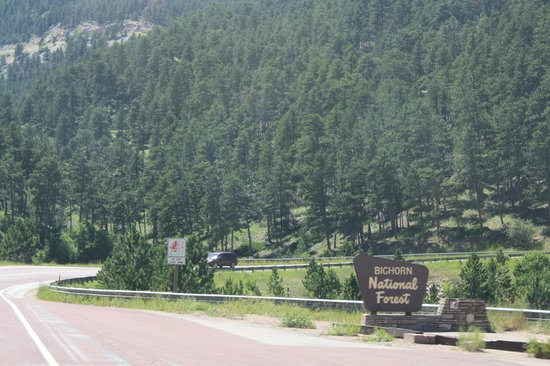 Wyoming: entering Big Horn Mountains