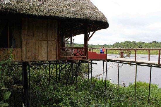 Napo Wildlife Center Ecolodge: Cabana on the lake