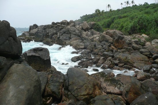 Thaproban Pavilion Resort and Spa : rocky beach