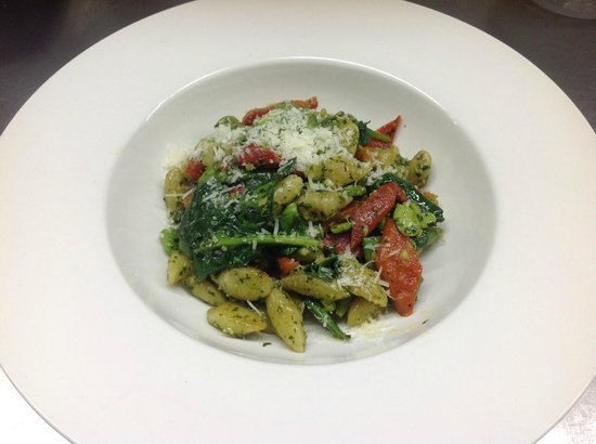 ORO Restaurant : Ricotta Gnocchi with Roasted Peppers, Spring Vegetables