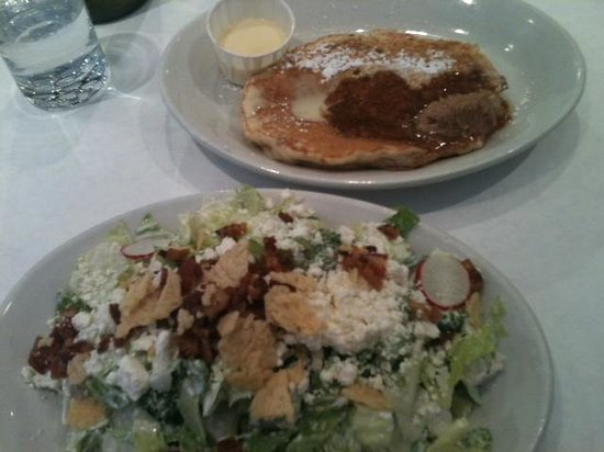 Southport Grocery & Cafe : cobb salad and bread pudding pancake
