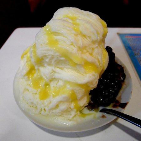 Big Bowl Ice: Milk Snow Ice with Red Bean and Pudding