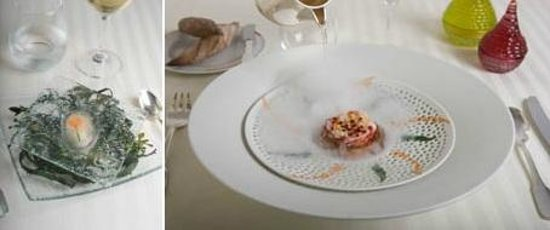 Restaurant Guy Savoy: Oyster from Cancale & Homard Bleu from Bretagne