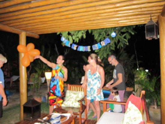 Pousada Quarto Crescente: Festejo de cumpleaños!