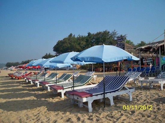 Estrela Do Mar Beach Resort: Beach Shack private Sun deck facing the sea