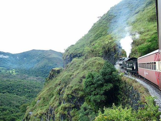 Steam train to Ouro Preto