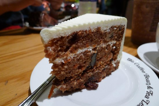 Carrot Cake At The Coffee Bean Tea Leaf Picture Of The Coffee Bean Tea Leaf Singapore Tripadvisor
