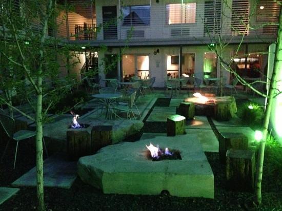Bar restaurant patio fire pits picture of the modern - Restaurants in garden city idaho ...