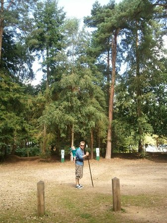 Rendlesham Forest Centre: About to set out on the UFO Walk Aug 2012