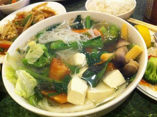 Nam Son Vietnamese Restaurant : working on my veggie pho, so clean healthy and satisfying