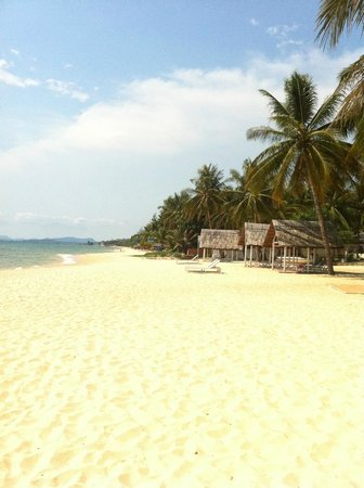 Tropicana Resort Phu Quoc: The beach looking north