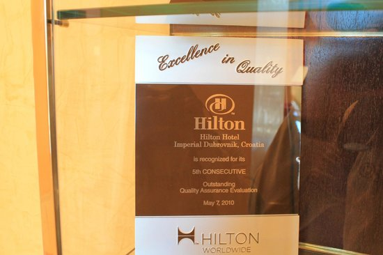 Hilton Imperial Dubrovnik : Awards that this hotel has won
