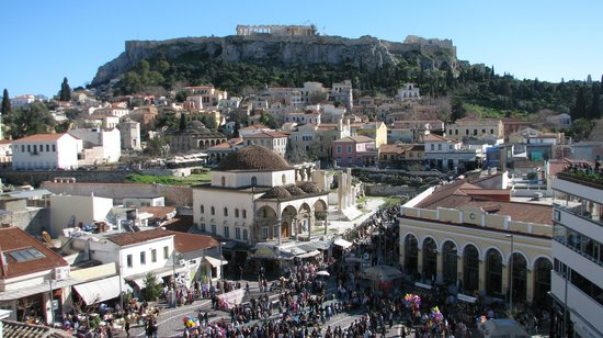 A for Athens: View from the Hotel Room