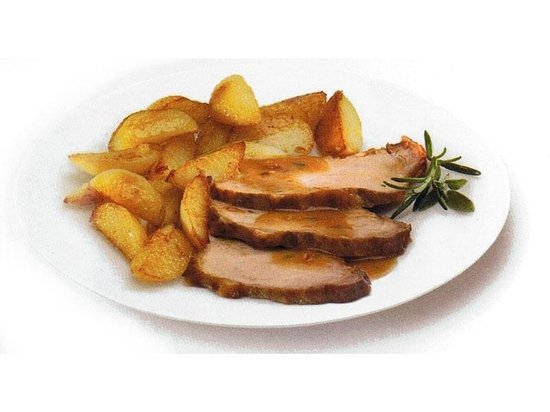 The Salty Dog Cafe: Roasted pork with baked potatoes