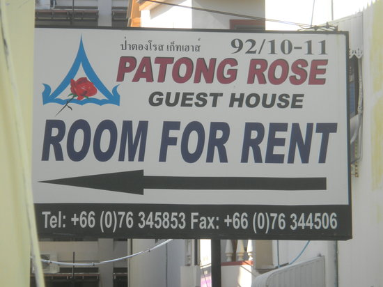 Patong Rose Guest House : Signage