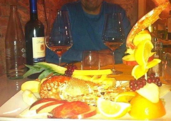 Lavoltabona Cucina Informale: Catalana di aragosta frutta e verdura
