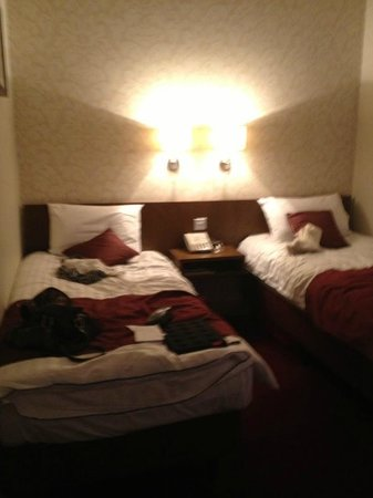 The Crown Hotel: Twin beds