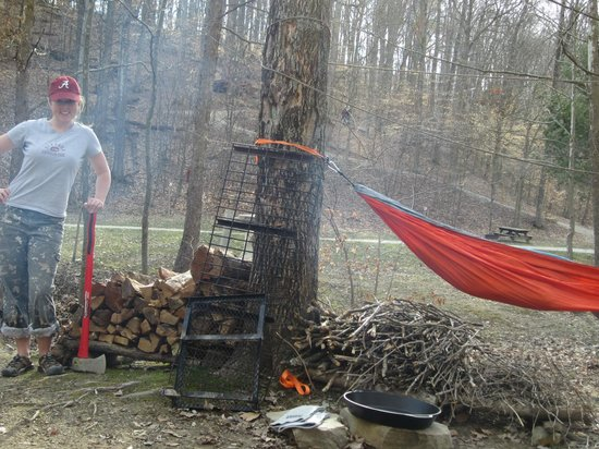 Valley Branch Retreat: The firewood queen